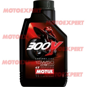 ACEITE DE MOTOR DE MOTO 300V 15W50 1 LITRO MOTUL