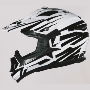 CASCO DE CROSS SHIRO MX734 BRAVO BLANCO NEGRO APROBADO