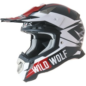 CASCO DE CROSS SHIRO MX917 WILD WOLF APROBADO