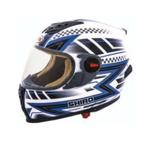 CASCO INTEGRAL SHIRO SH 821 ACTION AZUL APROBADO