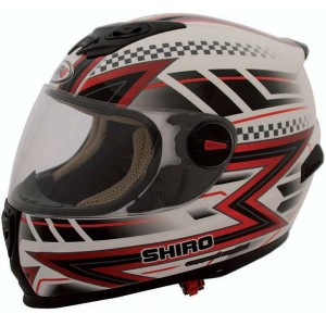 CASCO INTEGRAL SHIRO SH 821 ACTION ROJO APROBADO