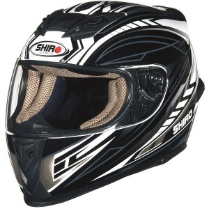 CASCO INTEGRAL SHIRO SH 821 MOTION NEGRO GRIS APROBADO